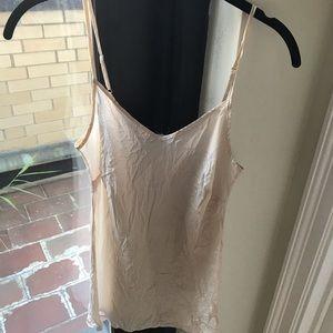 Pale pink silk Jcrew camisole